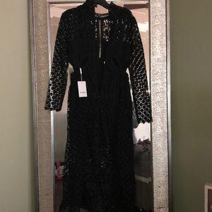 Self portrait lace sewn dress